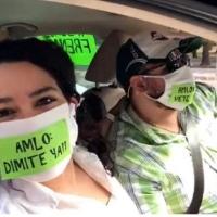 Protesta caravana nacional contra políticas del Presidente Andrés Manuel López Obrador.